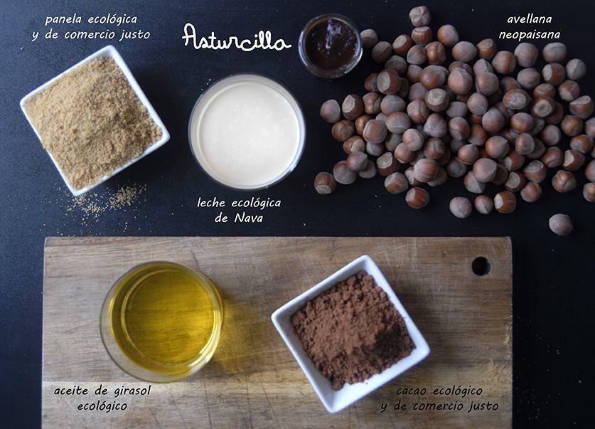 crema de avellanas y cacao